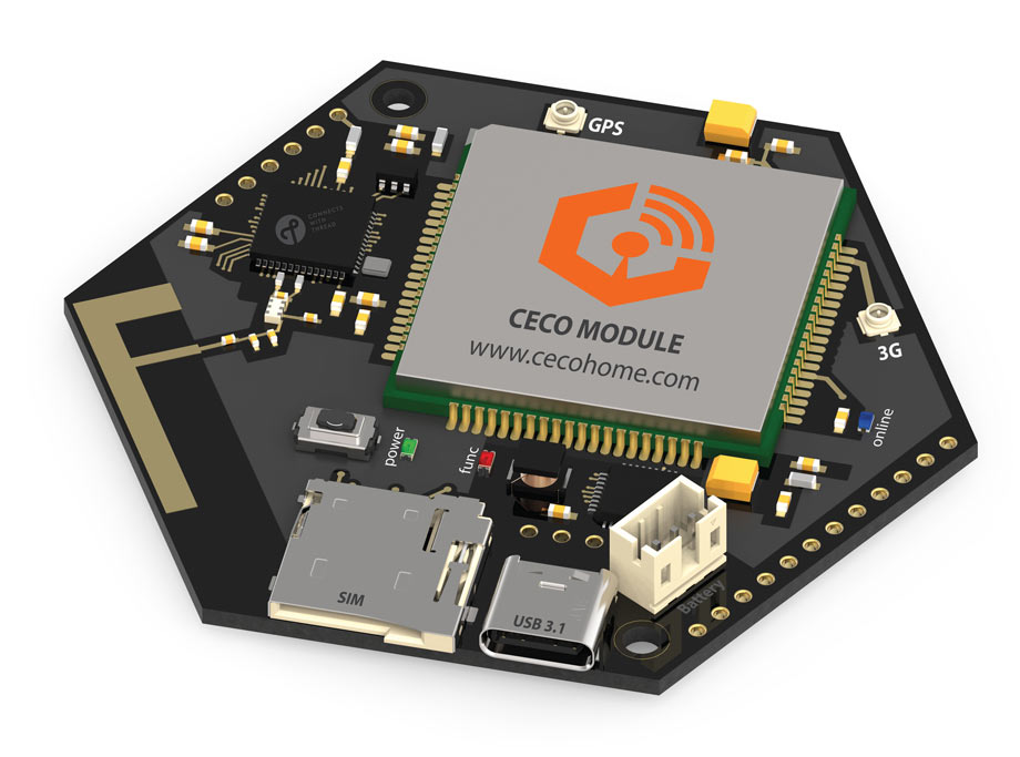 "CECO MODULE - The World's First ""Cellular with Thread"" Module, for IoT"