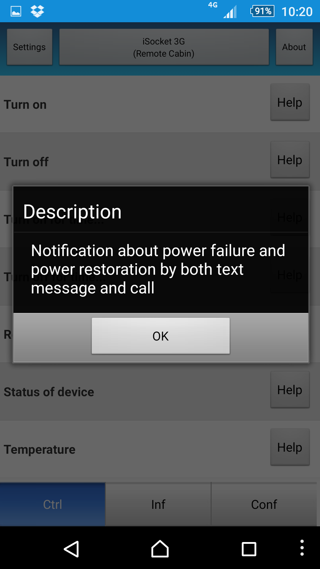 Help about power outage and power restore settings